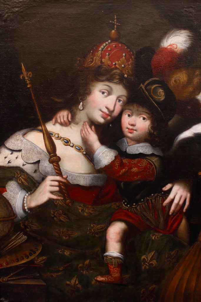 LOUIS XIV AND HIS MOTHER